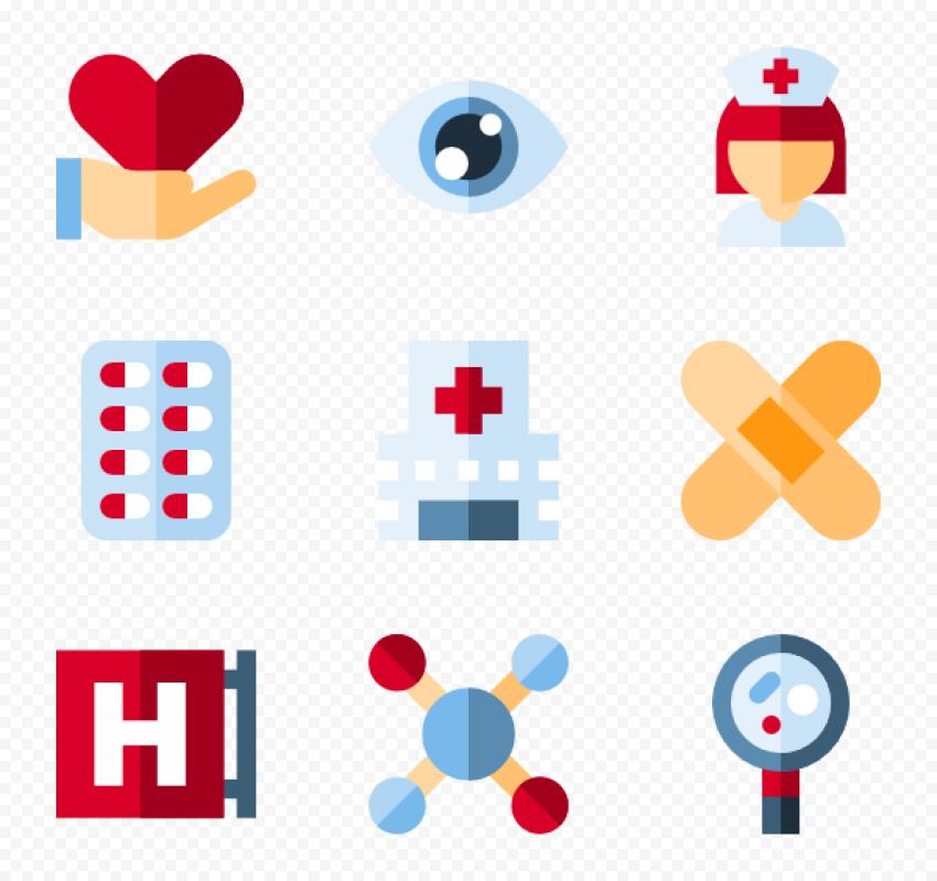 Nurse Medical Pills Tablet Plaster Hospital Icons Hospital Icon Flat Design Icons Icon