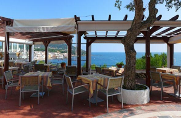 Restaurante Balcó de Calella de Palafrugell vistas al mar