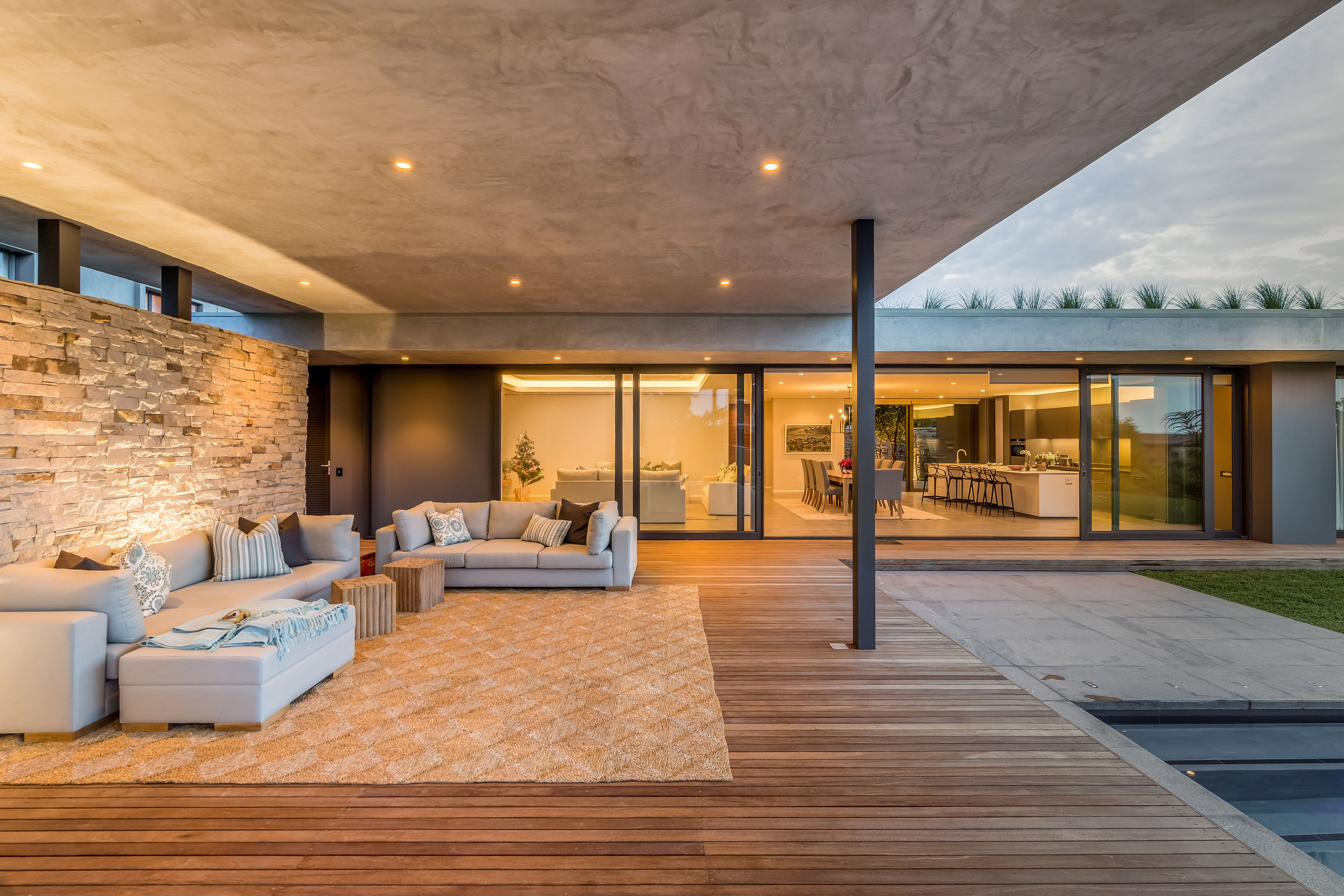 Orientated Around A Defined Courtyard This House Is Designed To
