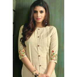 38b0e220a0 Advertisement; Wholesale Stylish Event Wear Cotton Embroidered Knee Length  Kurti Collection