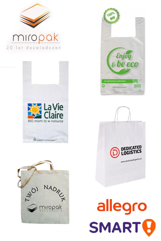 Oferujemy Ekologiczne Torby Oraz Wielorazowe Reklamowki Dla Sklepow Paper Shopping Bag La Vie Allegro