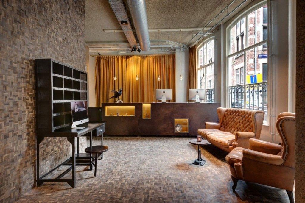 eclectic hotel reception desk