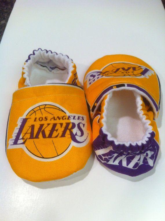LA Lakers Cloth Baby Booties by saluna on Etsy 8d18242c4