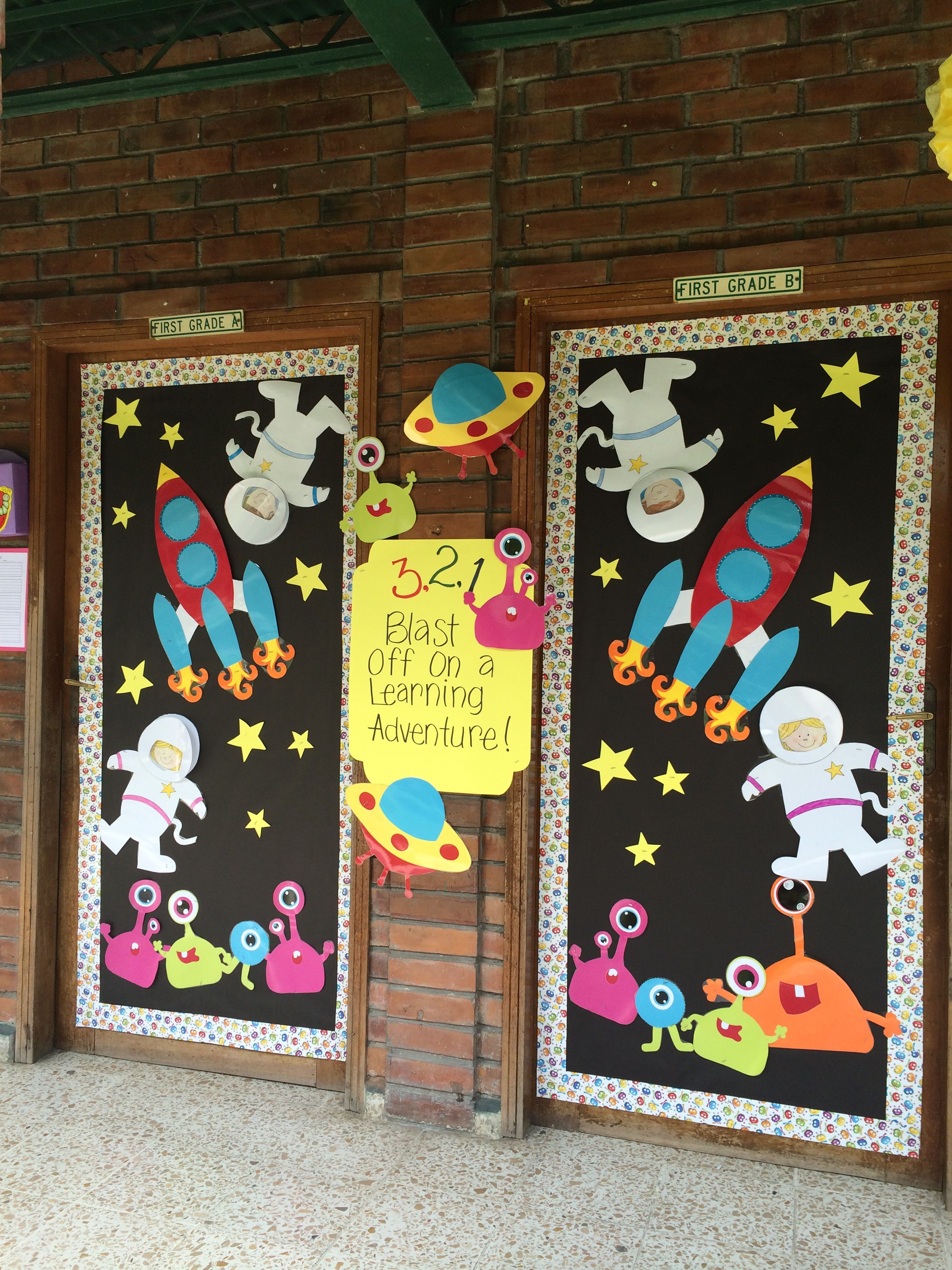 First Grade Space Theme Door Decoration Love It