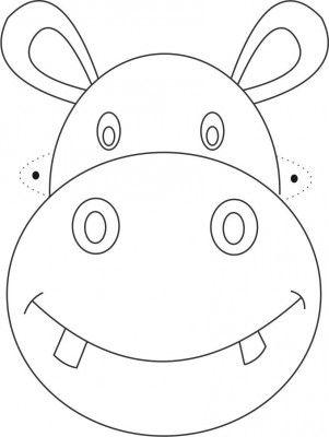 Carteta Hipopotamo Caretas De Animales Plantillas De Animales