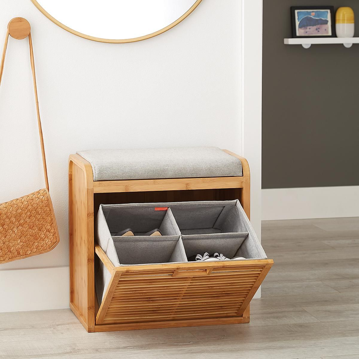 Lotus Bamboo Storage Bench Bench With Shoe Storage Bench With