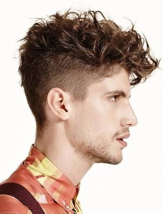 Mens Hairstyles Shaved Sides Messy Top