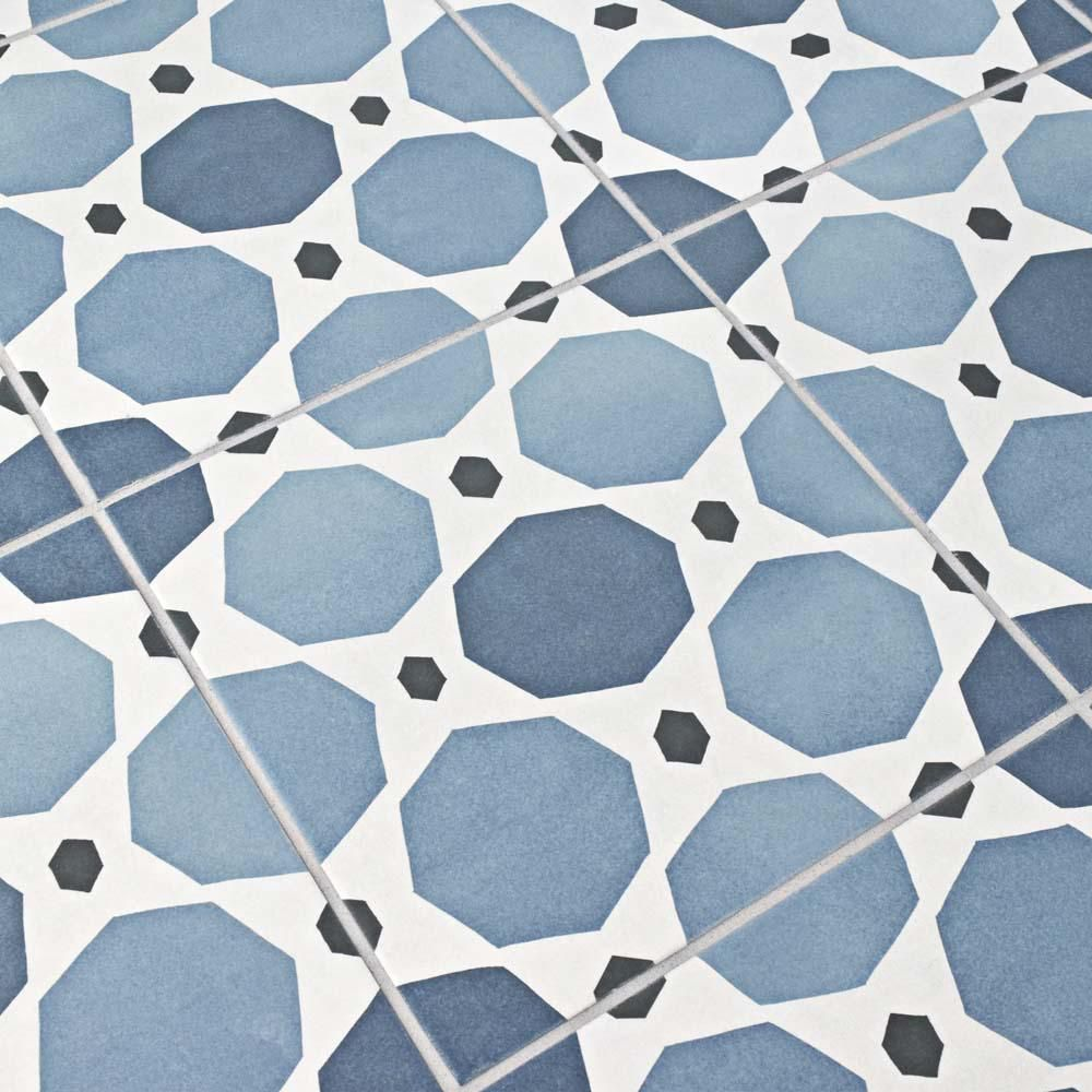 Merola Tile Caprice Colours Sapphire 7-7/8 in. x 7-7/8 in. Porcelain ...