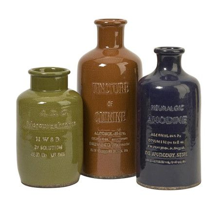 3 Piece Elixir Bottle Set - Philadelphia Brownstone on Joss and Main ...