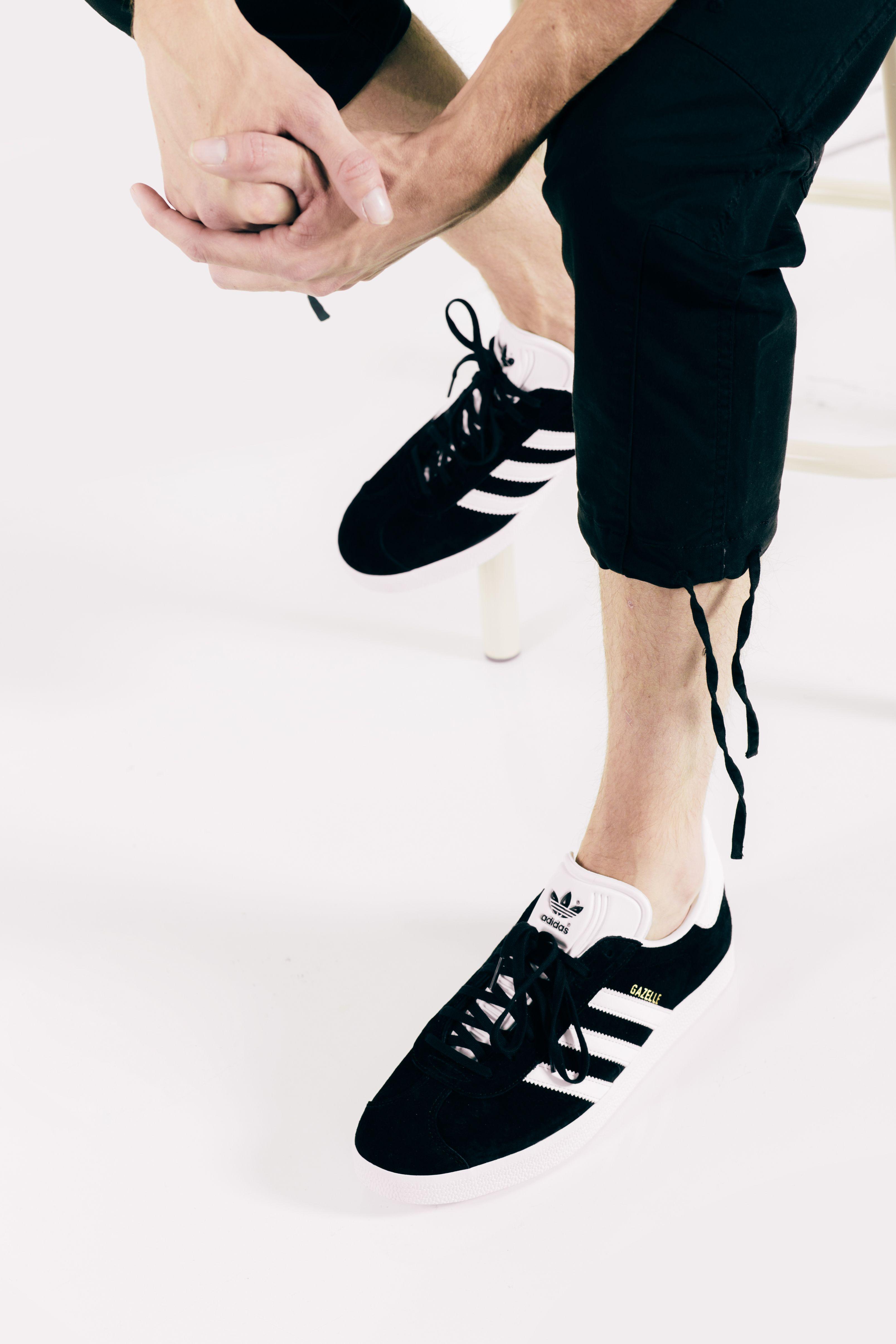 "284d74481d7 Stampd ""Deck"" Pants + Adidas Gazelle ""Core Black""  Stampd  Adidas  Fashion   Streetwear  Style  Urban  Lookbook  Photography  Footwear  Sneakers  Kicks    ..."
