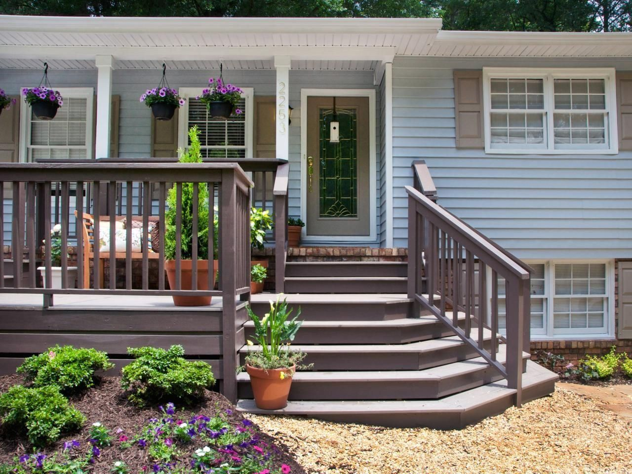 Before a home makeover, this home had a tiny front porch