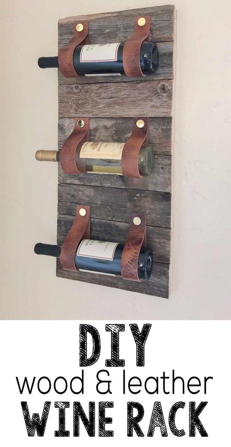 Photo of DIY Wood and Leather Wine Rack by Shanty2Chic