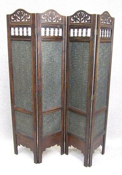 Victorian screens VICTORIAN STYLE FOUR FOLD DRESSING SCREEN
