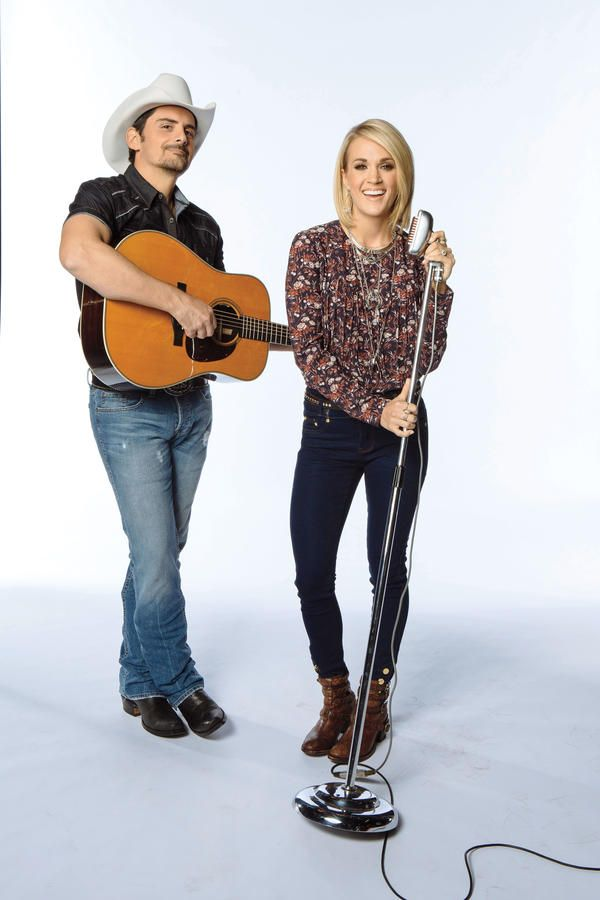 Behind The Scenes With Brad Paisley And Carrie Underwood Brad Paisley Carrie Underwood Carrie Underwood Pictures