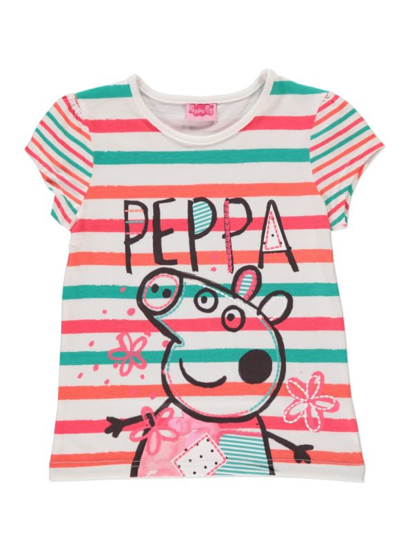 e165f60aa Peppa Pig striped tee - George at Asda | ☻ little fashion | Kids ...