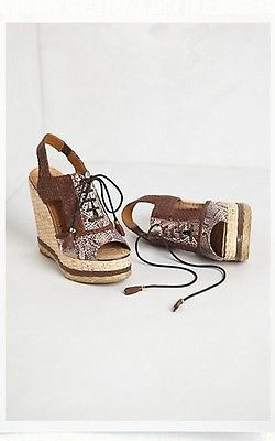 656b70f7b70f Sam Edelman Lace Up Shoes NEW Anthropologie Tinley Wedges Heels Platforms  8.5