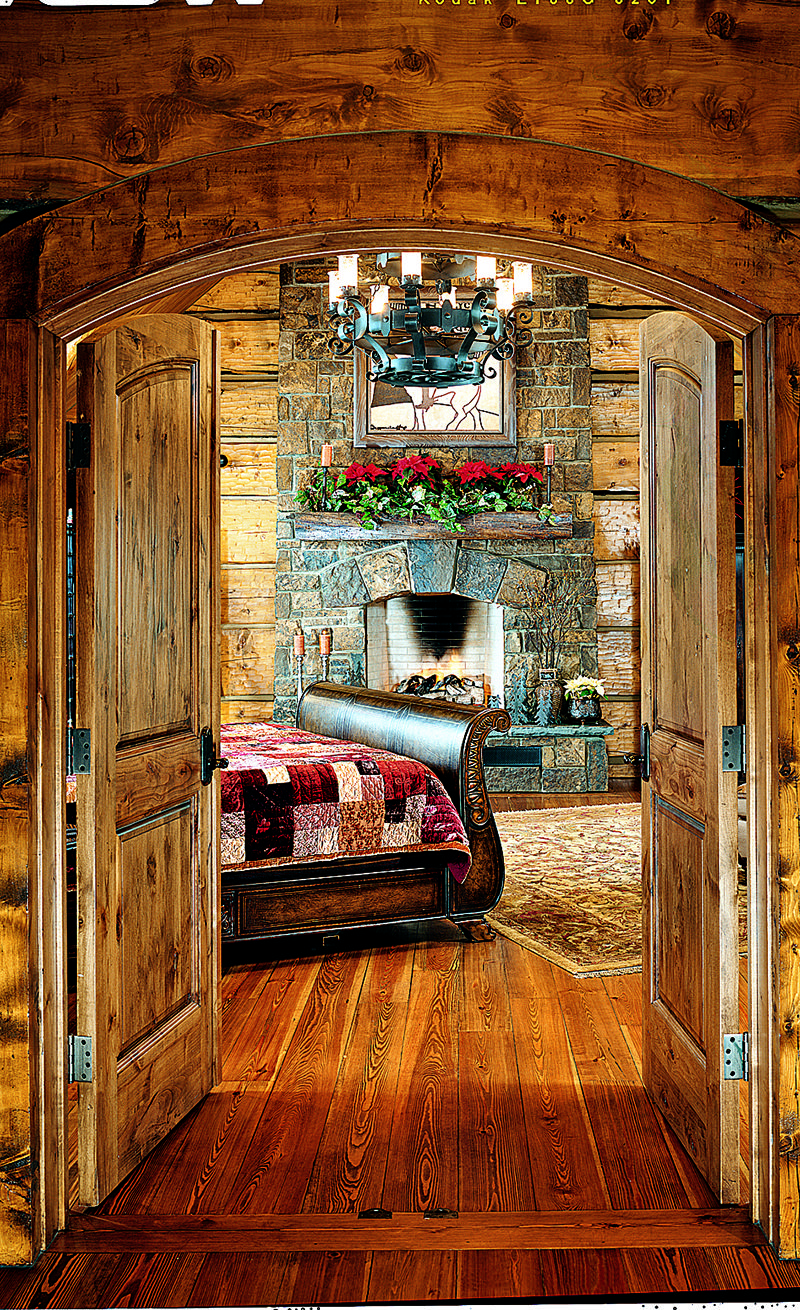 Christmas cabin interior - We Offer You A Gallery Of Festive Homes To Get You In The Holiday Spirit