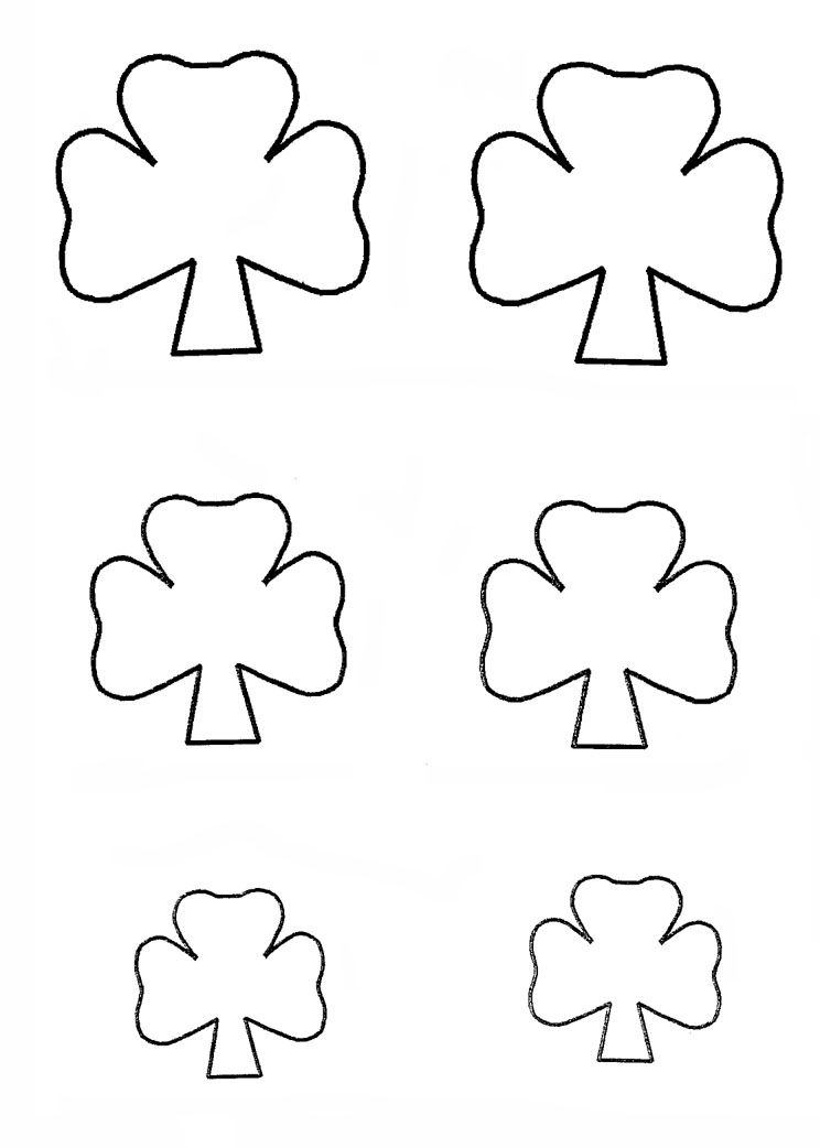 Shamrock Template Http://Www.Easy-Child-Crafts.Com/St-Patricks-Day