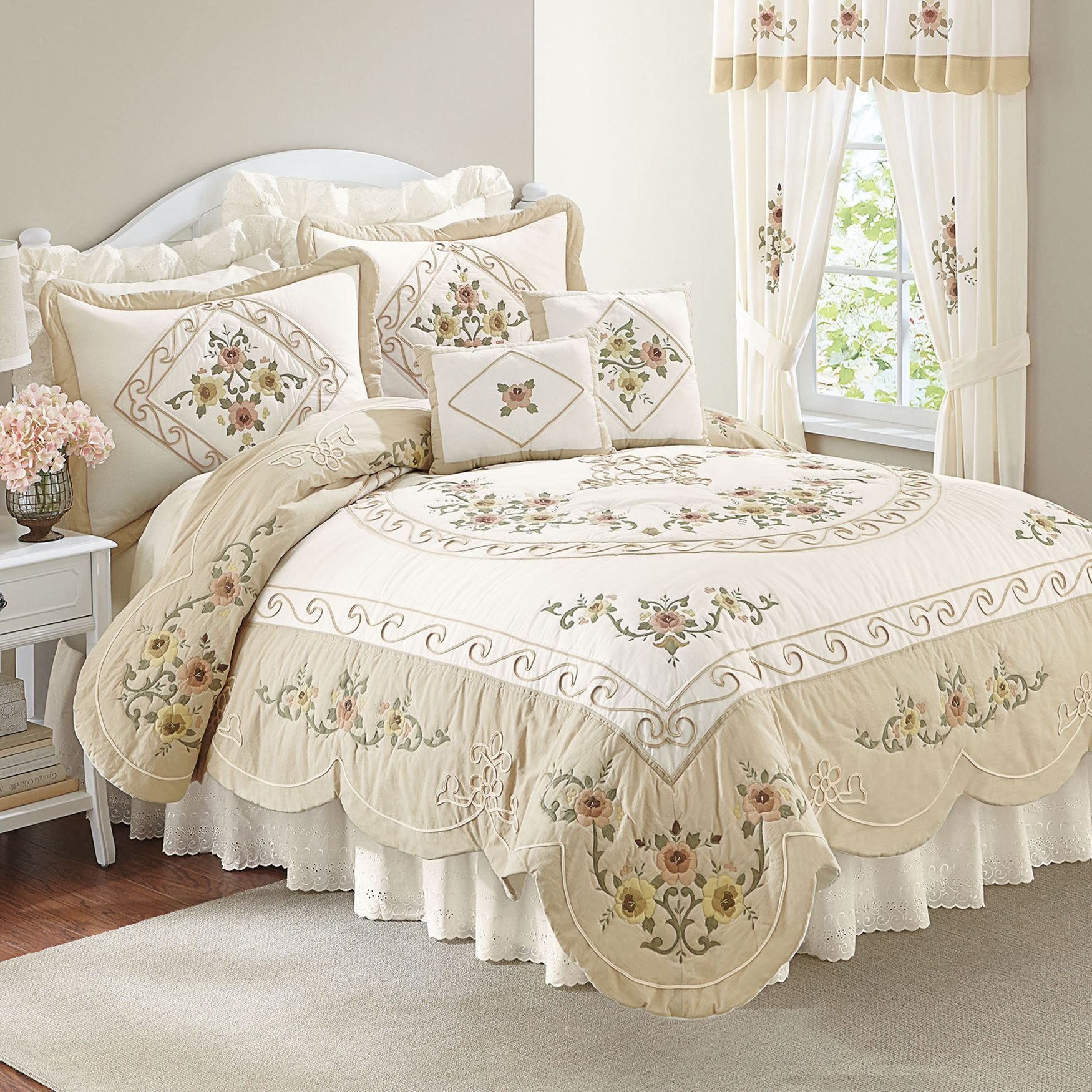 coverlets ava quilts embroidered brylanehome quilt pin oversized more cotton