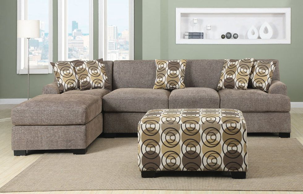 This Linen Sectional Sofa Boasts Of A Striking Versatile Sectional