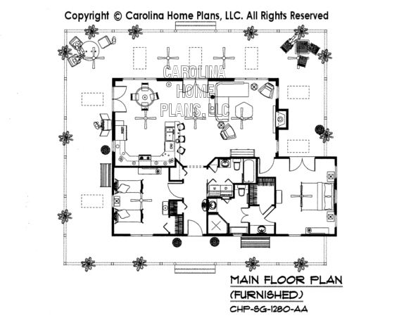 3d Images For Chp Sg 1280 Aa Small Country Cottage 3d House Plan Views Open House Plans 3d House Plans Country Style House Plans