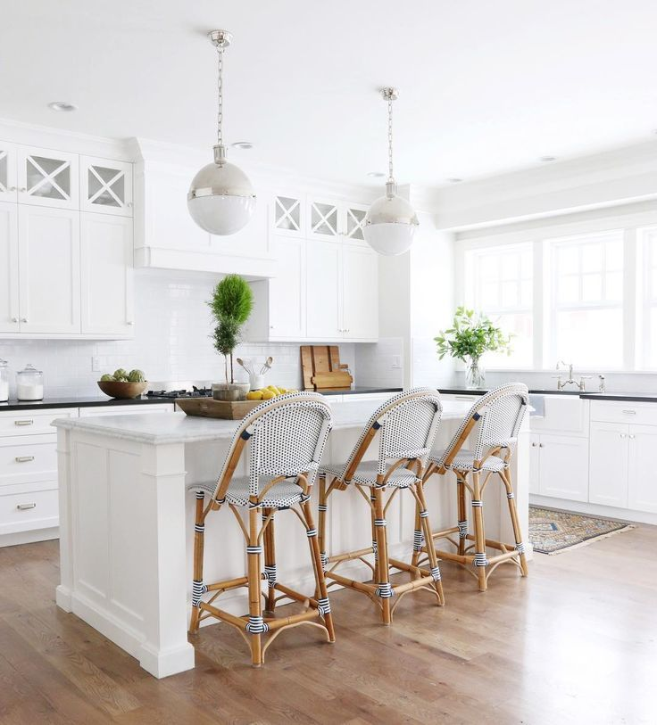 Nothing Like A White Kitchen To Keep Us Inspired Via Studiomcgee Featuring Our Classic Rivi Coastal Kitchen Design Classic White Kitchen Kitchen Remodel Small