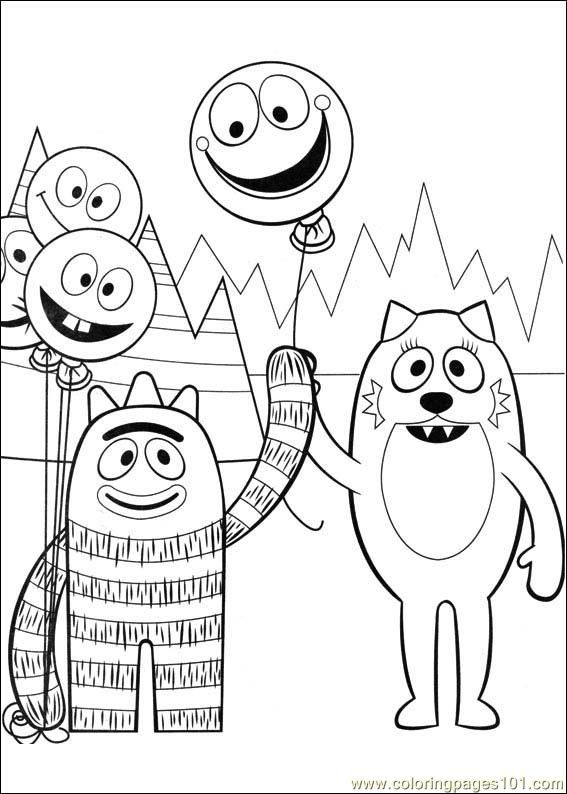 18 Free Yo Gabba Gabba Coloring Pages Used Some Of These For Landon S Birthday Party Yo Gabba Gabba Gabba Gabba Dance Coloring Pages