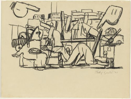 Philip Guston Untitled, 1968, Charcoal on paper