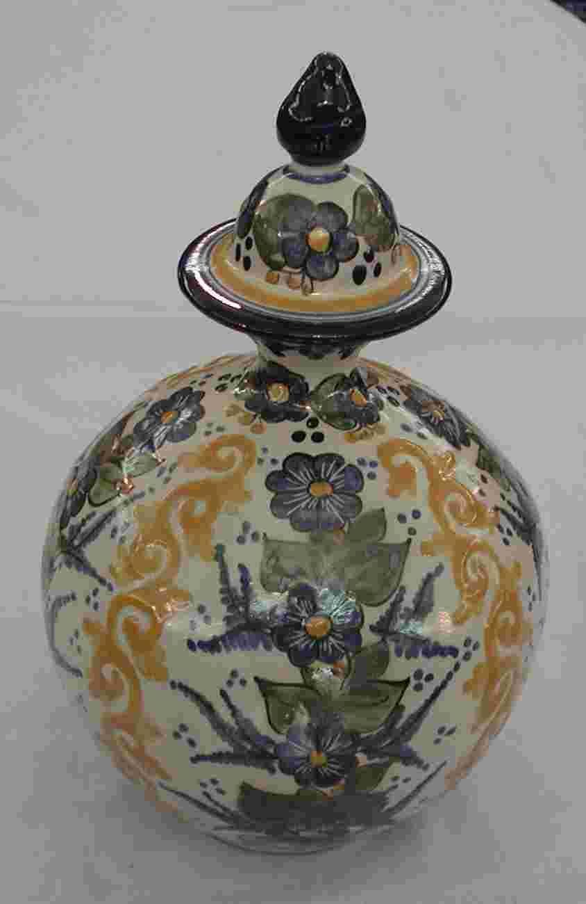 Talavera Round Jar with Lid - Mexican Connexion for Talavera Pottery [ MexicanConnexionforTile.com ] #shop #Talavera #Mexican