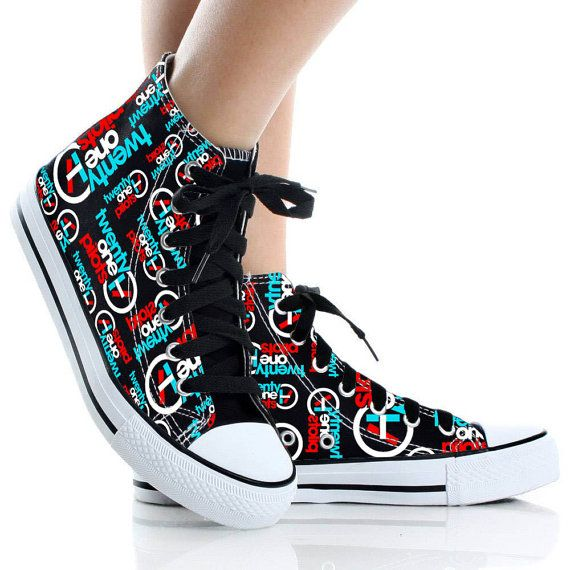 e79e3274c Twenty One Pilots ShoesShoes CustomHigh Topcanvas by CyndiFayeShop Painted  Shoes