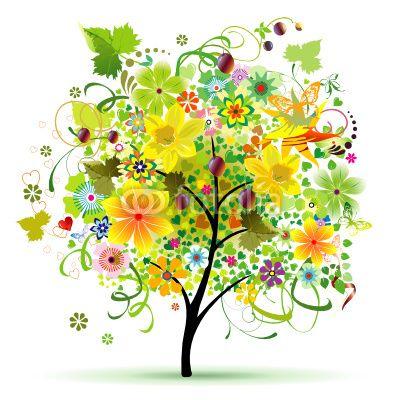 Árvore Flores da Primavera