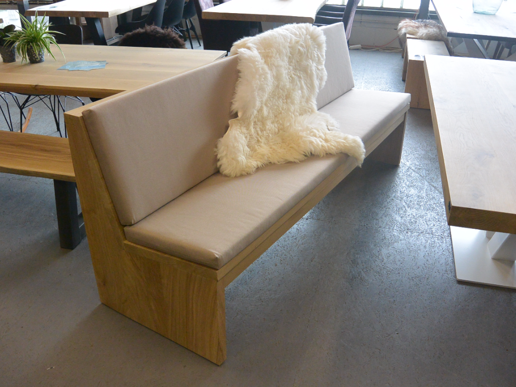 Kussen Op Maat : Eikenhout eetkamerbank zit heerlijk comfortabel kussens in elke