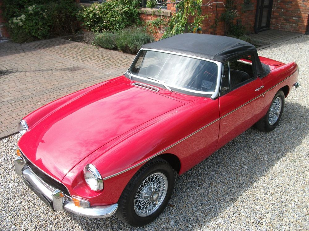Ebay Mgb Roadster 1970 Wire Wheels Chrome Bumpers Overdrive
