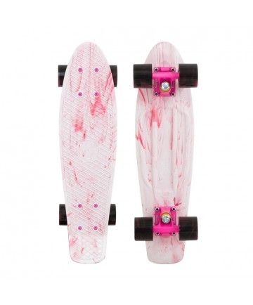 Penny Skateboards Usa Marble White Amp Pink Penny Original