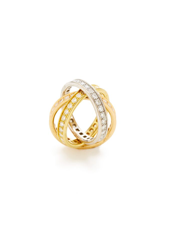 Cartier Tri-Color Gold - love these rolling rings!