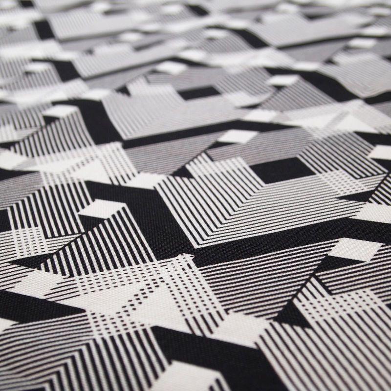 Geo-Graphica Fabric in Black B-Goods