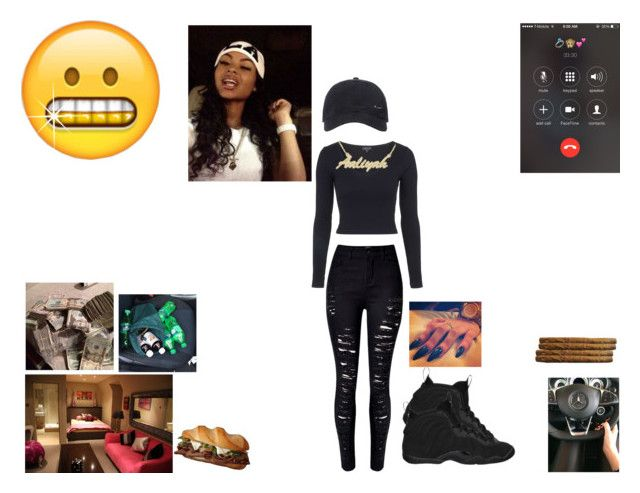 """""""Aliyah~School"""" by queen-imani ❤ liked on Polyvore featuring WithChic, Topshop and NIKE"""