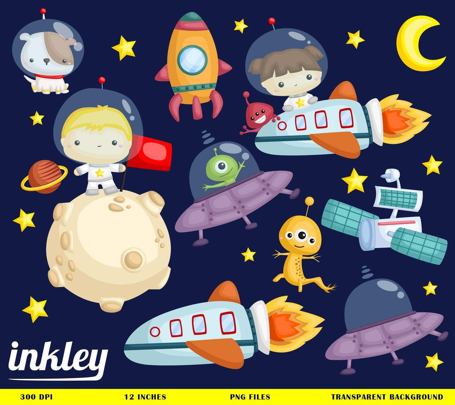 Galaxy astronaut. Space clipart png
