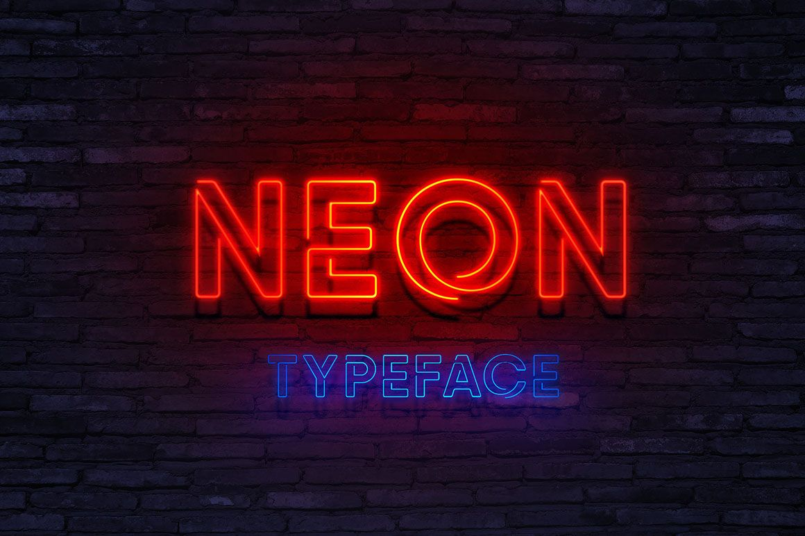 Neon Free Font Dealjumbo Com Discounted Design Bundles With Extended License Neon Sign Fonts Free Font