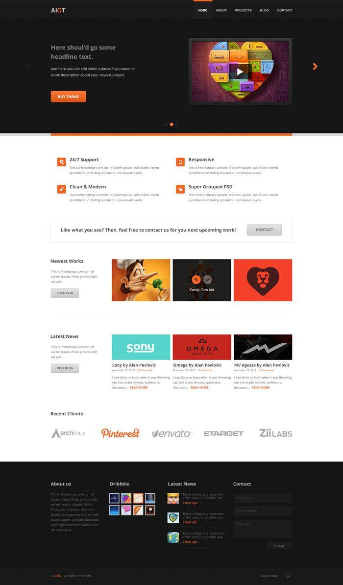 Modern Website Layout Designs For Inspiration Website