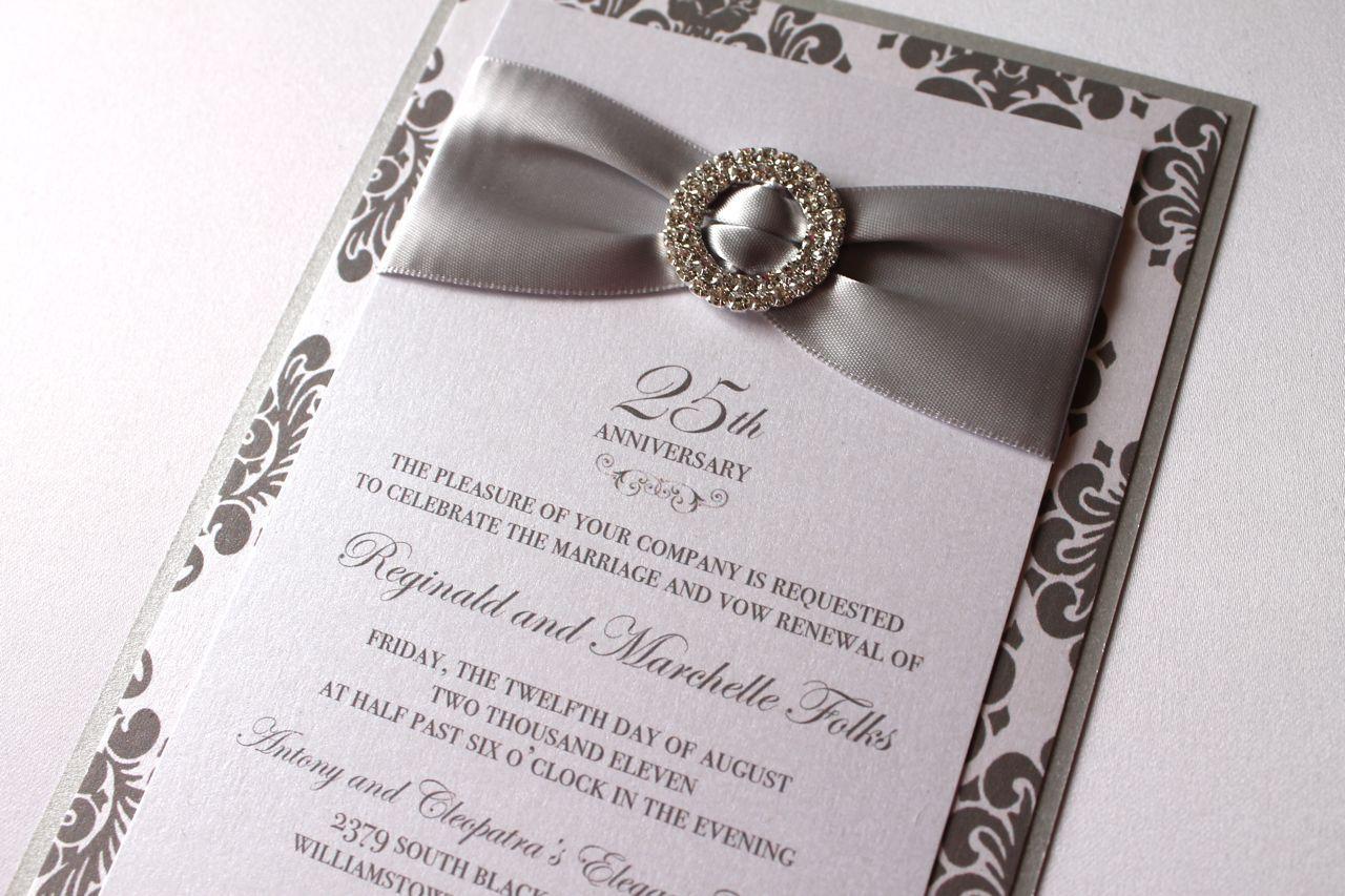 25th wedding anniversary invitations wording wedding invitations