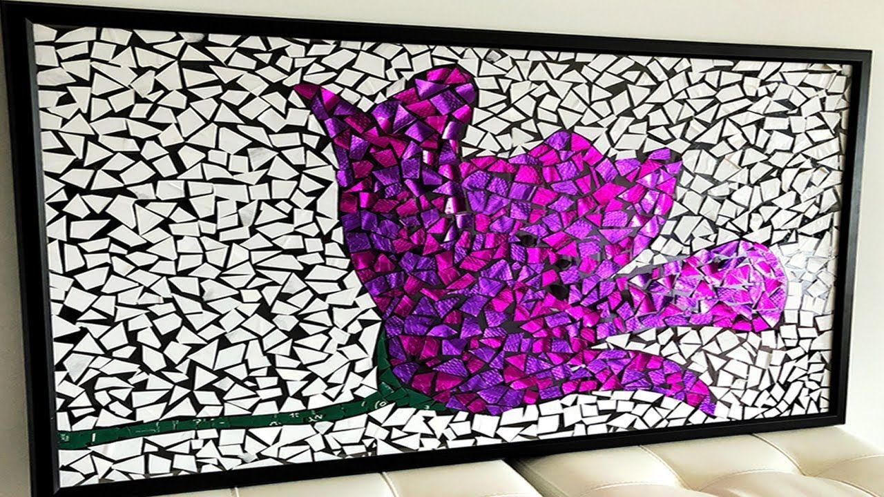 Do It Yourself Home Decorating Ideas: DIY Paper Mosaic Wall Art