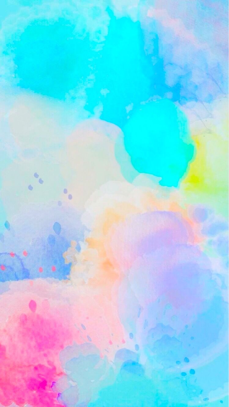 Colourful Wallpaper I Edited Original Image Not By Me Iphone Rainbow Colorful Background Hd Fundo De Aquarela Wallpapers Bonitos Planos De Fundo