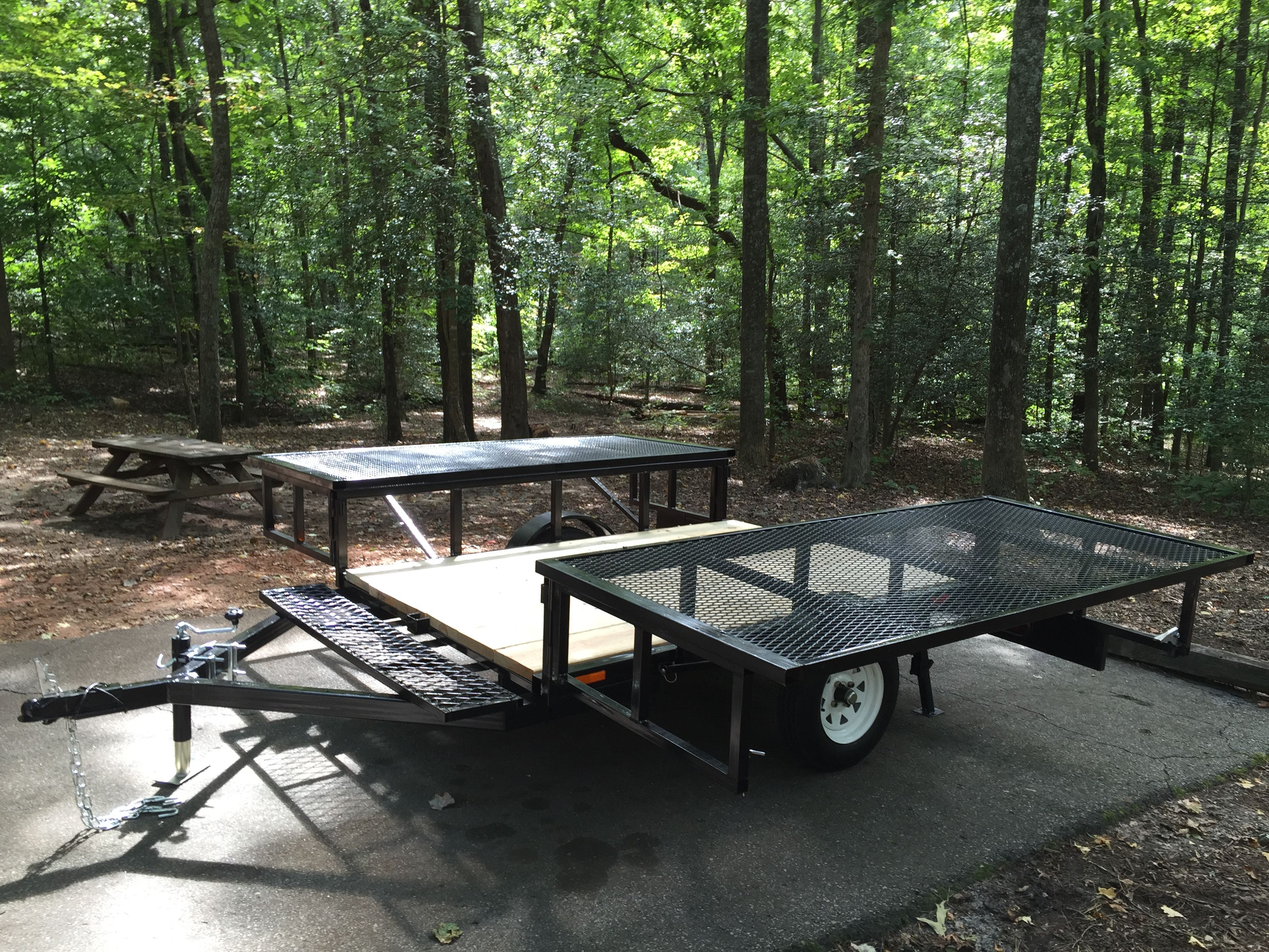Double Duty Utility Camper Trailer Makes Tent Camping A Breeze!