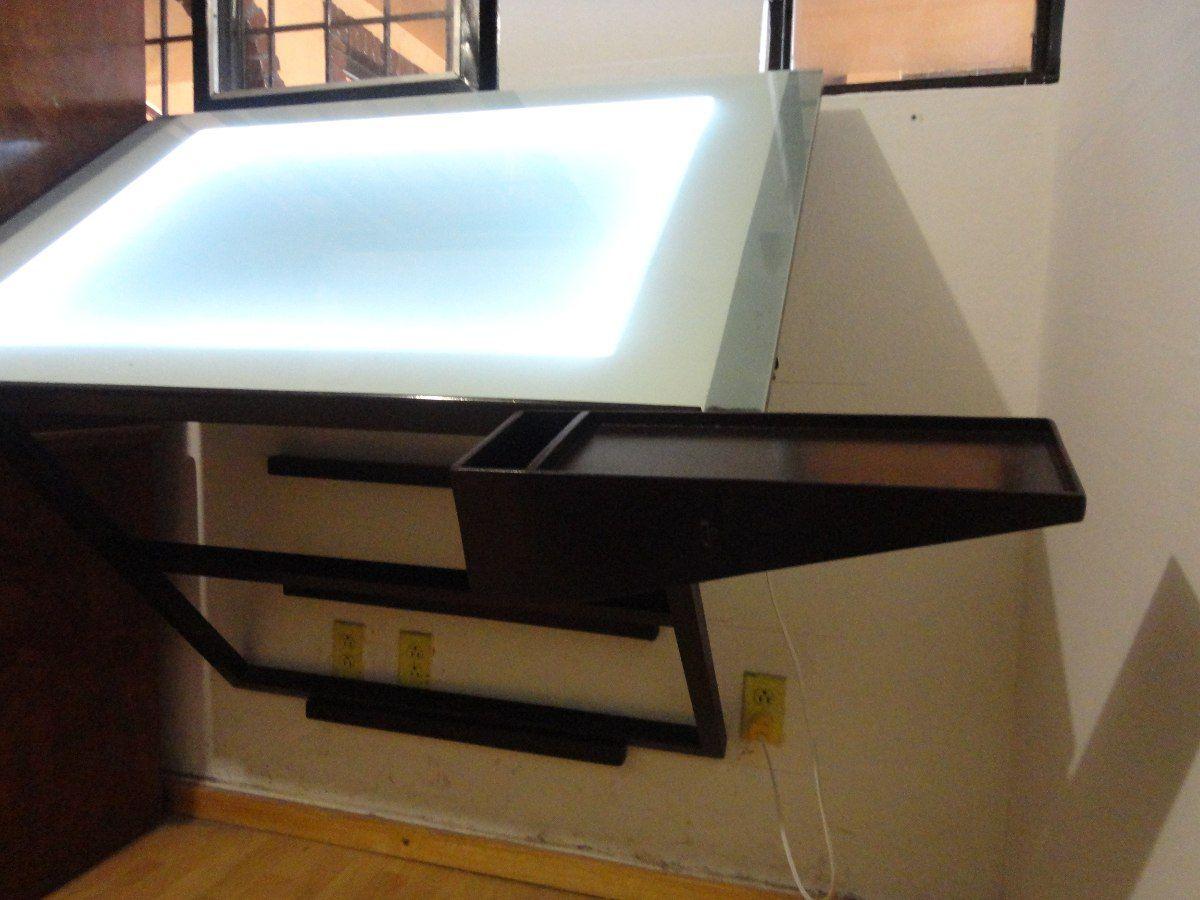 Restirador mesa para dise o con sistema de iluminaci n for Restirador de madera