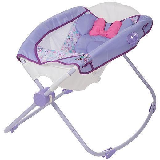 Minnie Mouse Sleeper Rock N Play Baby Infant Newborn Bassinet Cradle Disney New Baby Disney Baby Girl Bassinet Newborn Bassinet