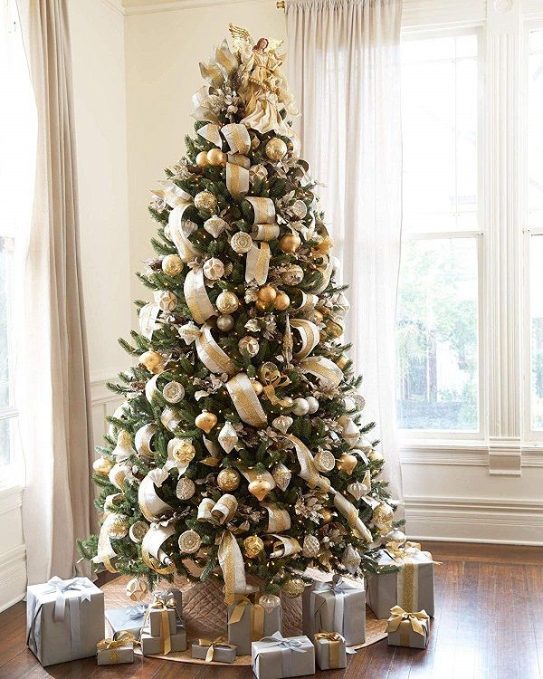 Top 9 Best High End Artificial Christmas Trees Gold