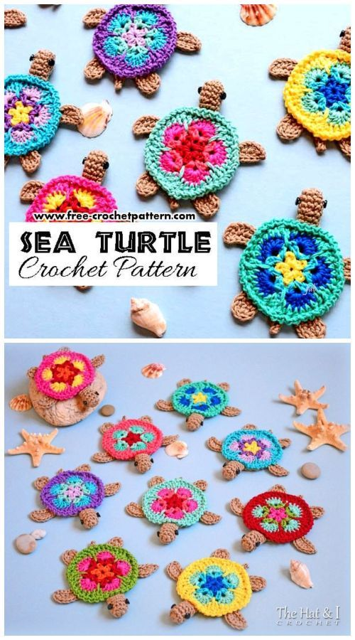 Crochet African Flower Turtle Patterns gratuiti all'uncinetto - Uncinetto