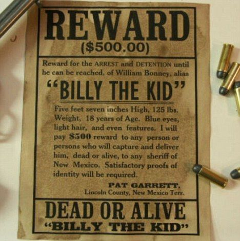 The day Billy the Kid reached for his pen Outlaws jail letters – Wanted Poster Letters