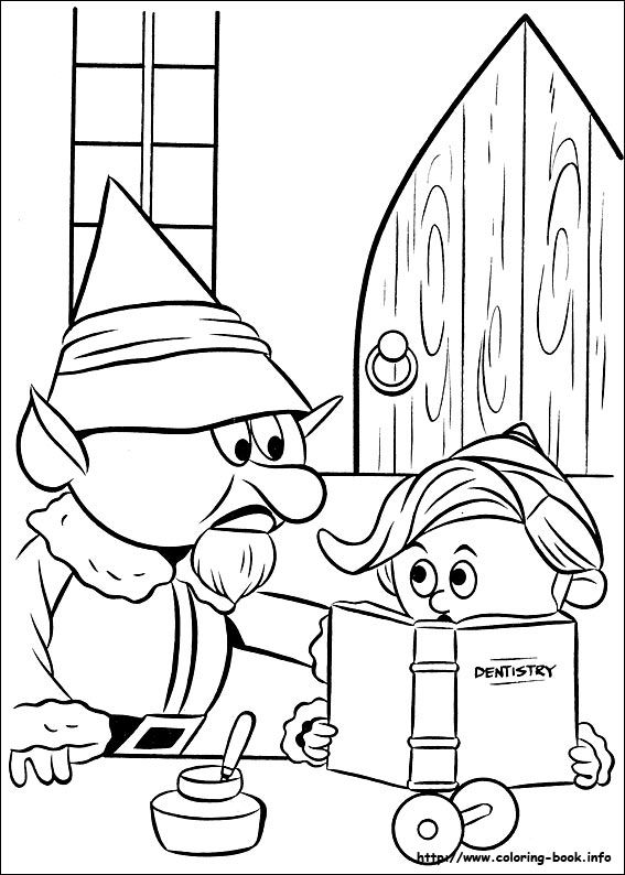 Rudolph the Red-Nosed Reindeer coloring picture | christmas at work ...